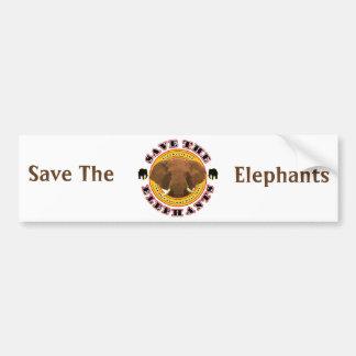 Ahorre los elefantes pegatina para auto