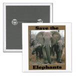 Ahorre los elefantes pin