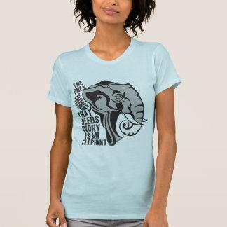 Ahorre los elefantes camiseta