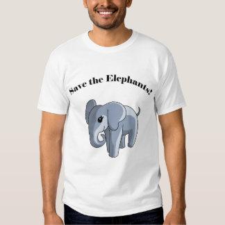 ¡Ahorre los elefantes! Playeras