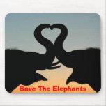 Ahorre los elefantes tapete de ratón