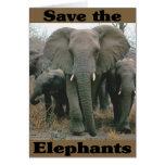 Ahorre los elefantes tarjeta