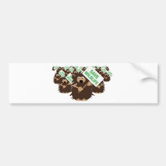ahorre los erizos de la fauna pegatina de parachoque