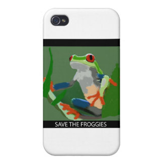 Ahorre los Froggies iPhone 4/4S Carcasas