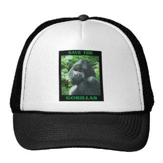 Ahorre los gorilas gorras de camionero