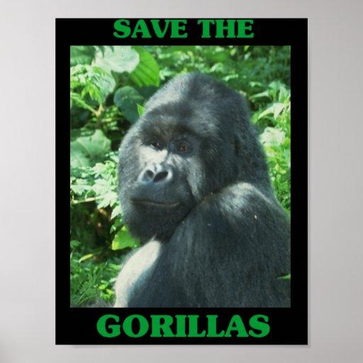 Ahorre los gorilas poster