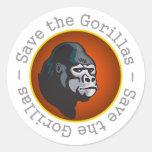 Ahorre los gorilas pegatina