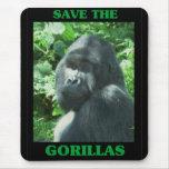 Ahorre los gorilas tapetes de raton