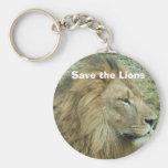 Ahorre los leones llaveros