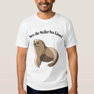 ¡Ahorre los leones marinos de Steller! Remeras