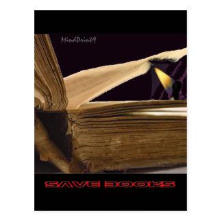 Ahorre los libros 2 tarjetas postales