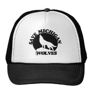 Ahorre los lobos de Michigan Gorras De Camionero