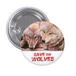 Ahorre los lobos pin