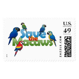 Ahorre los Macaws Sello Postal