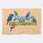Ahorre los Macaws Toalla De Cocina