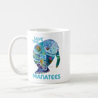 Ahorre los Manatees azules Taza Clásica