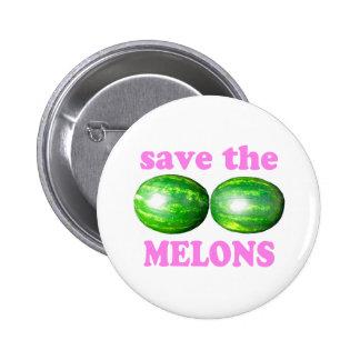 ahorre los melones en blanco con rosa pin