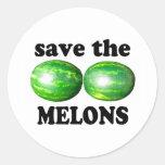 ahorre los melones en blanco etiquetas