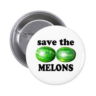ahorre los melones en blanco pin
