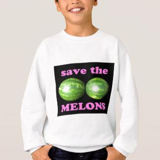 ahorre los melones en negro con rosa sudadera