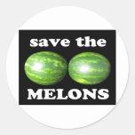 ahorre los melones en negro pegatinas