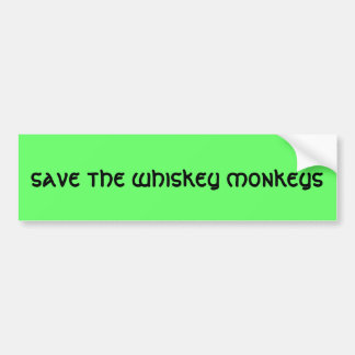 ahorre los monos del whisky etiqueta de parachoque