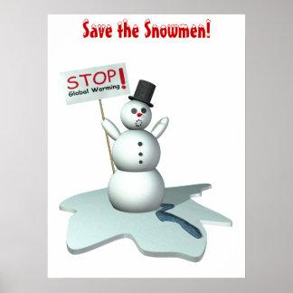 ¡Ahorre los muñecos de nieve! Impresiones