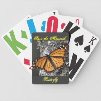 Ahorre los naipes de la mariposa de monarca baraja de cartas