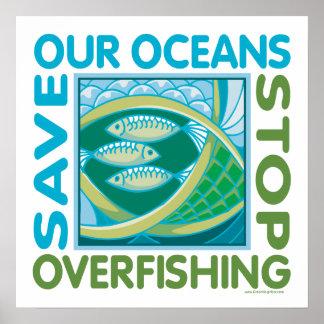Ahorre los océanos poster