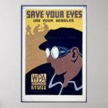 Ahorre los ojos de Yor - utilice sus gafas Poster