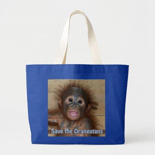 Ahorre los orangutanes bolsa