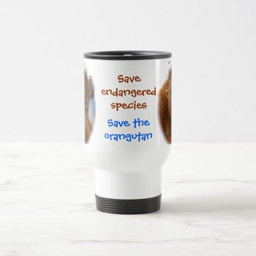Ahorre los orangutanes de la reserva del ~ de la f taza de café