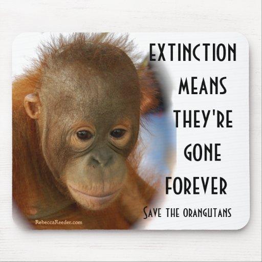 Ahorre los orangutanes ningunas estupideces mouse pads