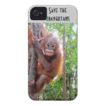 Ahorre los orangutanes Uttuh huérfano iPhone 4 Case-Mate Cárcasa