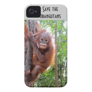 Ahorre los orangutanes Uttuh huérfano iPhone 4 Case-Mate Protector