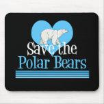 Ahorre los osos polares alfombrilla de raton