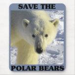 Ahorre los osos polares alfombrilla de ratón
