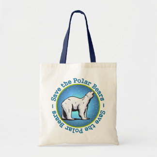 Ahorre los osos polares bolsa tela barata