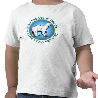 Ahorre los osos polares camiseta