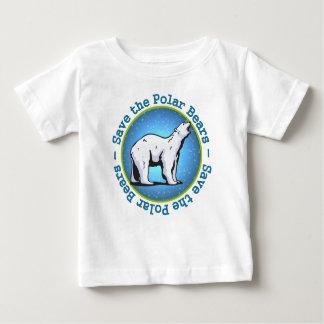 Ahorre los osos polares playera de bebé