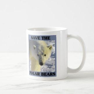 Ahorre los osos polares tazas