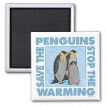 Ahorre los pingüinos imán de frigorífico