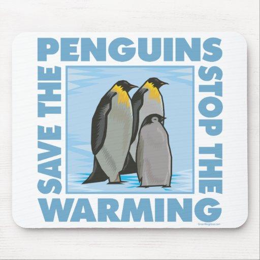 Ahorre los pingüinos mouse pads