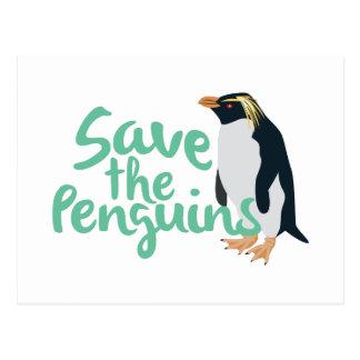 Ahorre los pingüinos postal