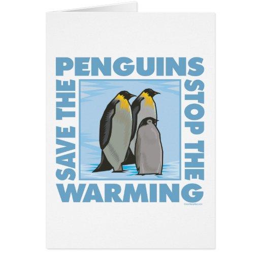 Ahorre los pingüinos tarjeta