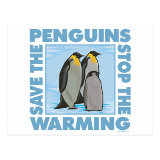 Ahorre los pingüinos tarjetas postales