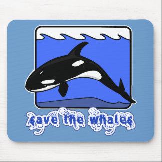 Ahorre los productos de las orcas de las ballenas alfombrillas de ratones