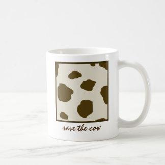 AHORRE los puntos de la vaca de Brown de la VACA Taza De Café