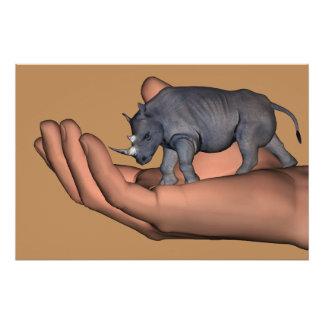 ¡Ahorre los Rhinos! Perfect Poster