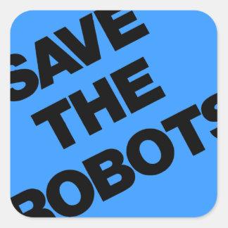 Ahorre los robots después del club New York City Calcomania Cuadradas Personalizada